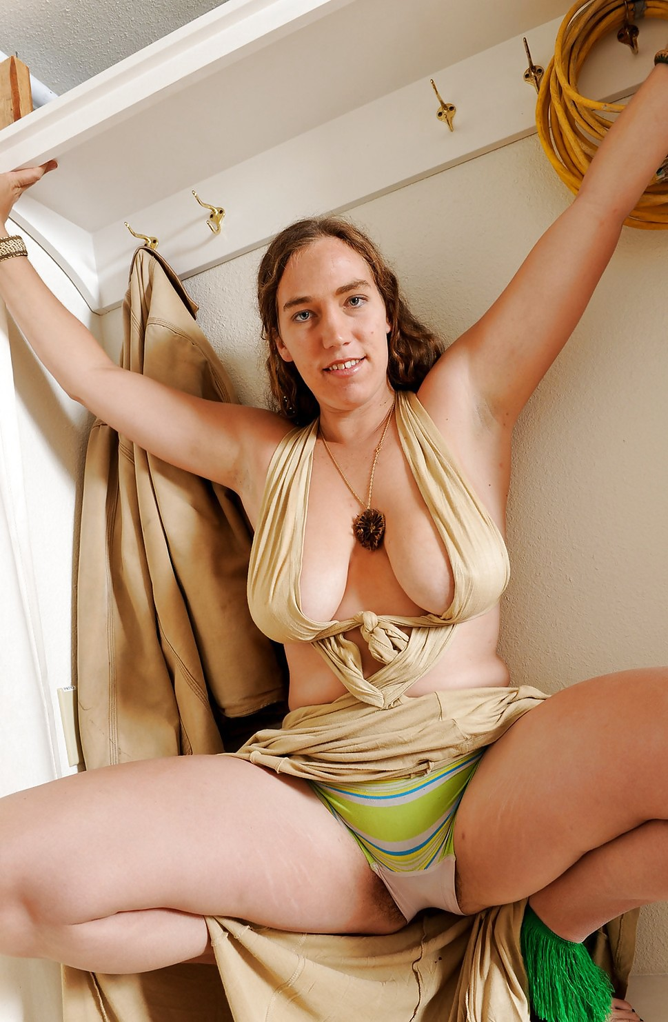tits hairy big Hippie